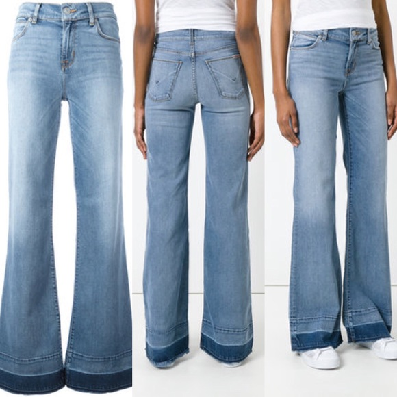 649c9543cef Hudson Jeans Jeans | Nwt Wide Leg Raw Hem Haym Dani 28 | Poshmark